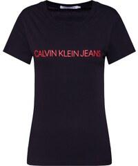 Calvin Klein Jeans Tričko  INSTITUTIONAL LOGO  červená   černá 4580c5eb02