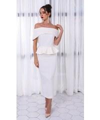 Perfect Večerní party dlouhé elegantní odhalené šaty s volány e89fd289f9
