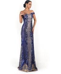 Perfect Vynikající vzorované dlouhé šaty večerní svatební se vzory e37a1025373