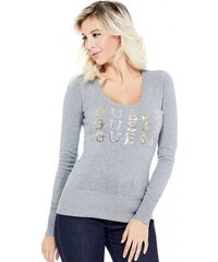 614100b6ad7 GUESS svetr Laine logo pullover sweater grey