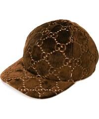 Gucci GG motif velvet cap - Brown 91ac0526c6