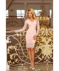 NUMOCO šaty dámské 170-4 dlouhý rukáv krajka 456db91bcff