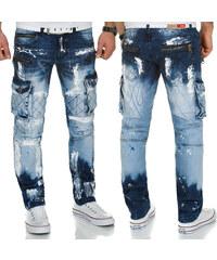 KOSMO LUPO kalhoty pánské KM135-1 jeans džíny kapsáče 3fc0e3f3da