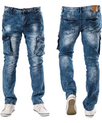 C-IN-C JEANS kalhoty pánské X2328 kapsáče stylové prošívané - Glami.cz d5751c2533