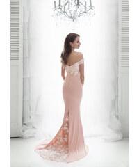 EVA   LOLA Společenské Šaty CALY růžové 37ba00db84