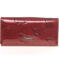 Luxusní dámská kožená lakovaná peněženka červená - Lorenti 4003L červená 7211ab7c993