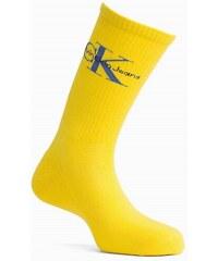 73d1823f79a Calvin Klein žluté pánské ponožky Jeans Logo Yellow - 40-46