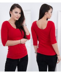 Kesi Dámské tričko s 3 4 rukávem Lilita červené 77c0ad2263