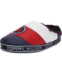 TOMMY HILFIGER Pantofle  WOMENS DOWNSLIPPER PATCH  námořnická modř    červená   bílá 51baa98b828