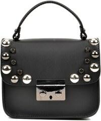 Černá kožená kabelka Anna Luchini Retto 18b1f81f61