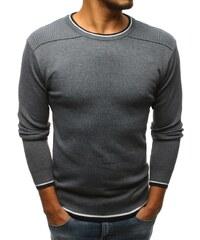 fcea8bcdd109 Buďchlap Antracitový sveter s ozdobným lemom