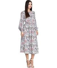 350b0c3869c Romantické šaty s potiskem Figl M600
