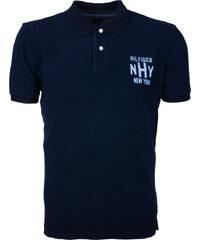Pánské tmavě modré polo triko s potiskem Tommy Hilfiger c9af48dc19