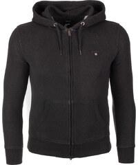 Pánská tmavě šedá mikina na zip s kapucí Gant 5a11597bc4