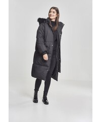Dámska zimná bunda URBAN CLASSICS Ladies Oversize Faux Fur Puffer Coat  blk blk 025a788dbd6