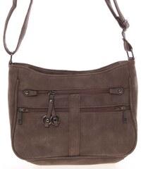 Dámska menšia crossbody hnedá kabelka - Piace Molto Umbra hnedá a5d66b73a70