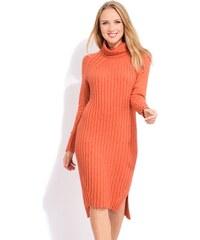 LA FILLE DU COUTURIER Dámské šaty AVRIL K1012 ORANGE 727236c33a