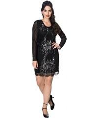 BANNED Dámské šaty Great Gatsby černé s dlouhým rukávem 7a01f77760f