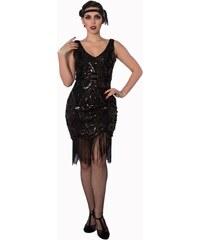 BANNED Dámské šaty Great Gatsby černé 72b2fc75bd