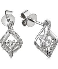 3f4c1e507 iZlato Forever Diamantové náušnice z bílého zlata 0,190 ct Dancing Diamonds  IZBR556AN