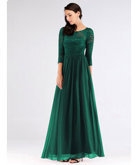 e533558b580 Ever Pretty Luxusní zelené šaty s krajkou 7680