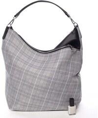 Stylová károvaná dámská látková kabelka černá - Delami Amani čierna 2b3f17a1cc4