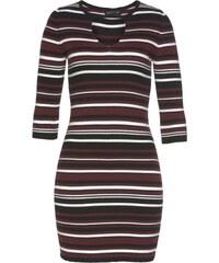 MELROSE Úpletové šaty červenofialová   černá   bílá 5afaa725b9