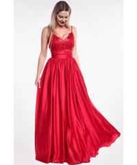 EMO Červené plesové šaty 0b3ab33e935