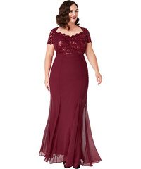 1262ad995ea Bellazu CG Dlouhé plesové šaty Dakota vínové