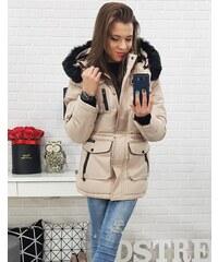 b8164a4973 Dstreet Béžová dámska zimná bunda