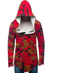 Červená pánska mikina s kapucňou a potlačou BOLF W1580 - Glami.sk e4febe4251a