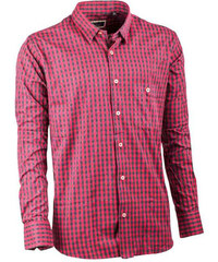1bfe31a5e84a Tmavě červená pánská flanelová košile 100 % bavlna Tonelli 110900
