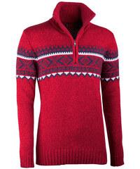 932a2fd5cb7 Červený pánský svetr norský vzor Assante 51023