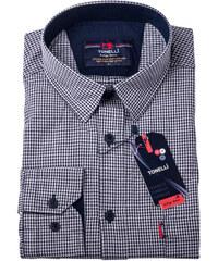 Černobílá nadměr košile 100 % bavlna Tonelli 110958 412d84e711