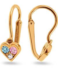 iZlato Design Zlaté detské náušnice srdiečka 1-239-0194 b5c751a891a