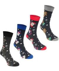 Pánské vánoční ponožky Jack and Jones 4 v balení Navy d8f353630f