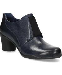 Clarks Modrá kožená kotníčková obuv s pružením 14b36adde4