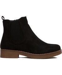 abcf803a7be Dámské černé kotníkové boty Juliet 091