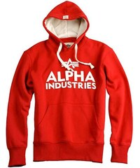 Alpha Industries Mikina Alpha Foam Print Hoody červená  7b12b064b84