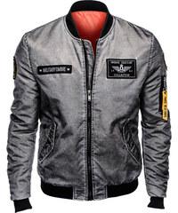 Ombre Clothing Férfi meleg bomber dzseki Brecken szürke S 0e233e2ef6