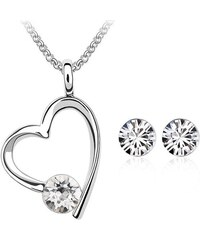 Glory Set náhrdelník a náušnice Water drop Swarovski elements Silver ... 84549967295
