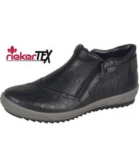 397e03d4c280 Rieker Členková zateplená obuv na nízkom podpätku čiernej farby