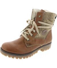 Hnedá dámska obuv značky Rieker 1a620adba41