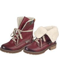 Bordová dámska členková obuv značky Rieker 4b336621908