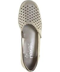 c363cf30c6 Dámske uzatvorené sandále Rieker farba strieborná