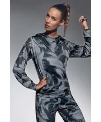 Basbleu Athena női sport szabadidő felső szürkés-fekete 044eb022a3