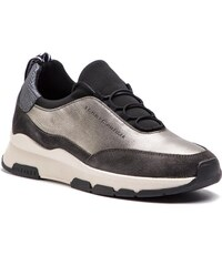 Sneakers TOMMY HILFIGER - Cool Leather Debossed Sneaker FW0FW04028 Silver  000 b30e0f3b97