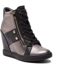 c0860a9a2 Sneakers TOMMY HILFIGER - Sneaker Wedge FW0FW02977 Black 990 - Glami.ro