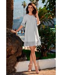 5b2c92358112 Lemoniade společenské šaty MM-114661 šedá
