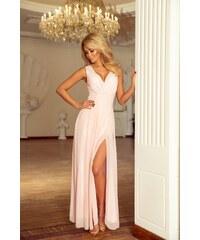 d2b882969cf7 Numoco dlouhé šaty MM-115699 růžová